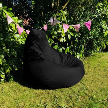 Extra Large Classic Beanbag - Indoor/Outdoor - Black
