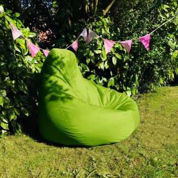 Extra Large Classic Beanbag - Indoor/Outdoor - Lime Green