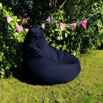 Extra Large Classic Beanbag - Indoor/Outdoor - Navy Blue