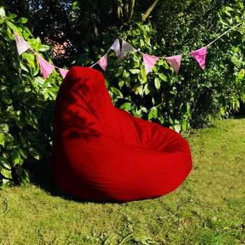 Extra Large Classic Beanbag - Indoor/Outdoor - Red