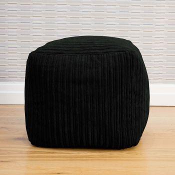 Jumbo Cord 40cm Cube Black Beanbag