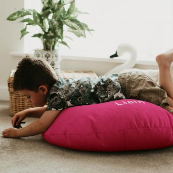 Cerise Pink Kids Trend Smarty Floor Cushion Bean Bag