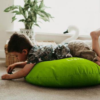 Lime Green Kids Trend Smarty Floor Cushion Bean Bag
