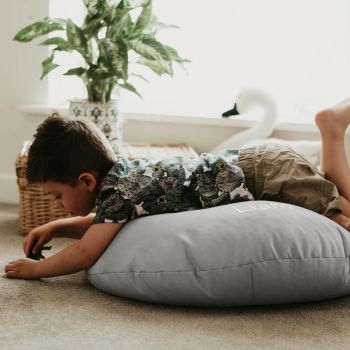 Platinum Grey Kids Trend Smarty Floor Cushion Bean Bag