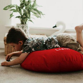 Red Kids Trend Smarty Floor Cushion Bean Bag
