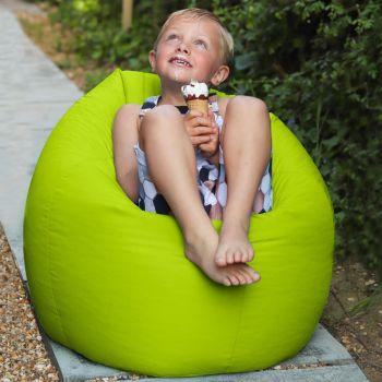 Indoor Outdoor Kids Classic Beanbag in Lime Green