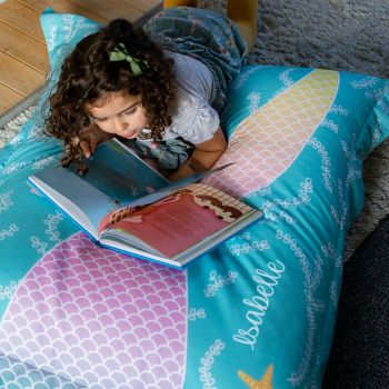 Mermaid Tail Squarbie Kids Beanbag - Tail Side