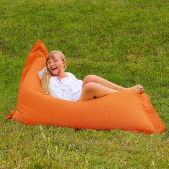Extra Large Squarbie Adult Beanbag in Orange