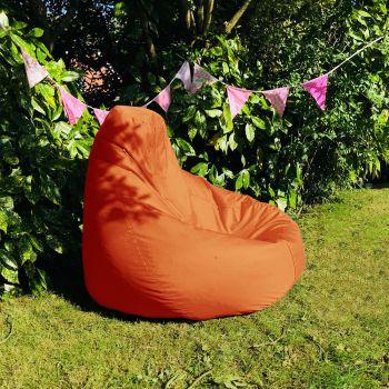 Outdoor Extra Large Classic Beanbag In Orange
