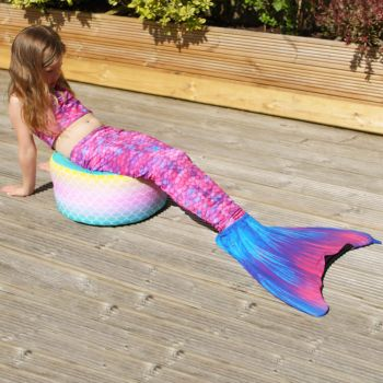 Mermaid Ombre Kids Stool - Indoor/Outdoor