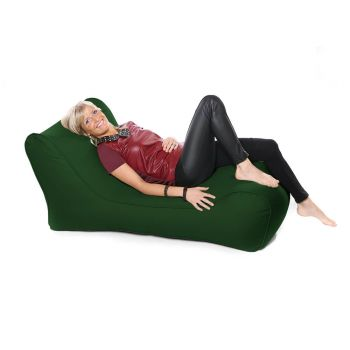 Outdoor Solo Lounger Beanbag In Bottle Green