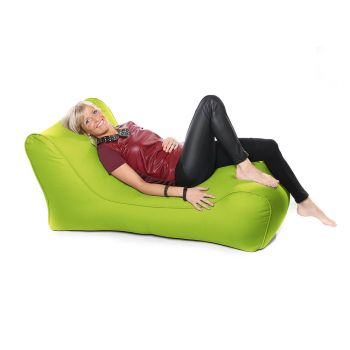 Outdoor Solo Lounger Beanbag In Lime Green