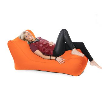 Outdoor Solo Lounger Beanbag In Orange
