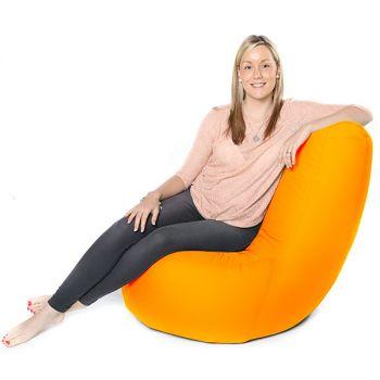 Yellow Indoor/Outdoor Large Pod Bean Bag Chair
