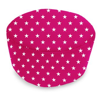 Cerise Pink Stars Footstool