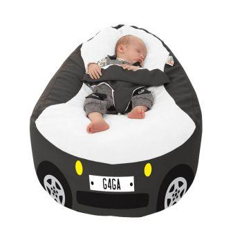 Racing Car Gaga Plus Baby to Junior Beanbag Charcoal