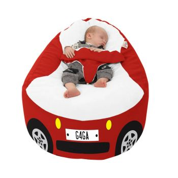 Racing Car Gaga Plus Baby to Junior Beanbag In Red