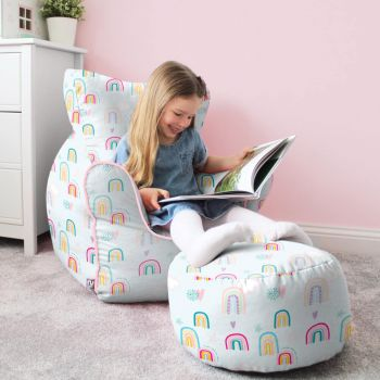 Rainbow Sky Children's Beanbag Chair
