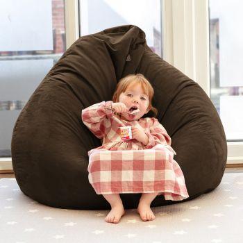 Faux Suede Slouchbag beanbag in brown