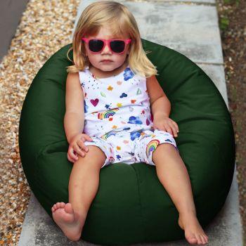 small kids indoor/outdoor beanbag in Bottle green