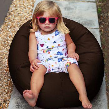 Small Kids Indoor/Outdoor beanbag in brown