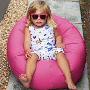 Small Kids Indoor/Outdoor Beanbag in Cerise Pink