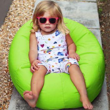 Small Kids Indoor/Outdoor Beanbag in Lime Green