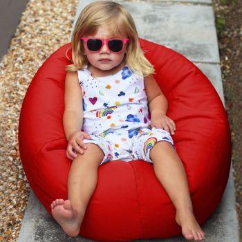 Small Kids Indoor/Outdoor Beanbag in Red