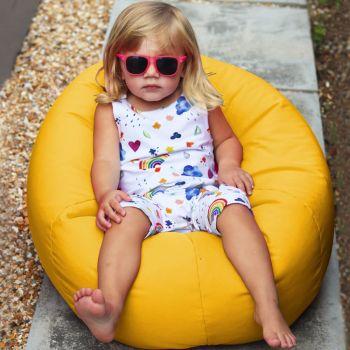 Small Kids Indoor/Outdoor Beanbag in Yellow