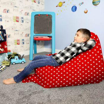 Red junior Squarbie beanbag