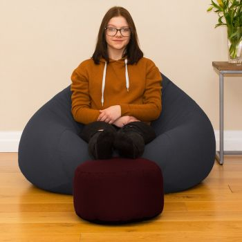 Bigger Better Comfy Round Berry Footstool