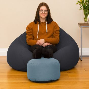 Bigger Better Comfy Round Dusk Footstool