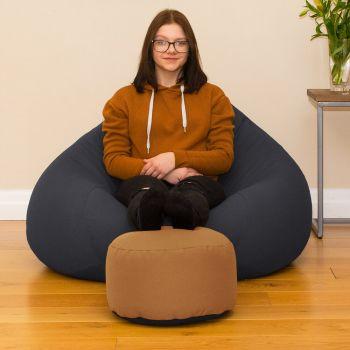 Bigger Better Comfy Round Sandstone Footstool