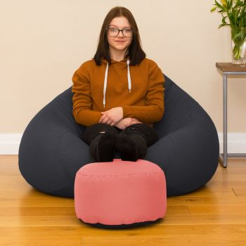 Bigger Better Comfy Round Strawberry Footstool