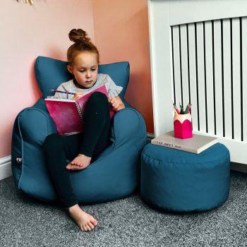 Children's Beanbag Armchair - Ultra Marine Blue