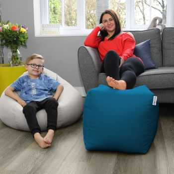 Trend Cube Footstool Beanbag Colour Teal