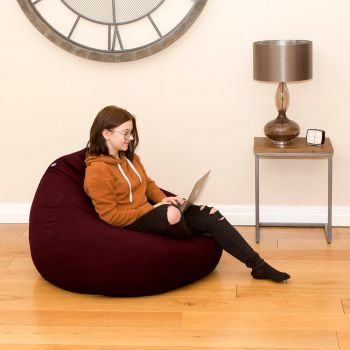 Trend Extra Large Slouchbag Bean Bag In Berry