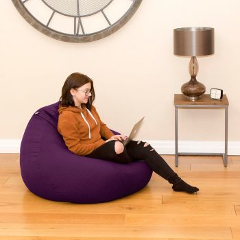 Trend Extra Large Slouchbag Bean Bag In Purple