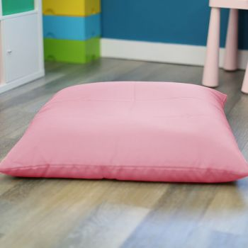 Baby Pink Kids Trend Square Floor Cushion Bean Bag