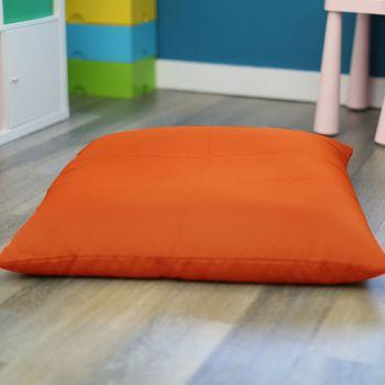 Orange Kids Trend Square Floor Cushion Bean Bag