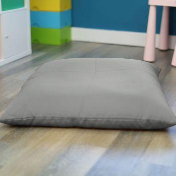 Platinum Grey Kids Trend Square Floor Cushion Bean Bag