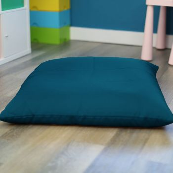 Teal Kids Trend Square Floor Cushion Bean Bag