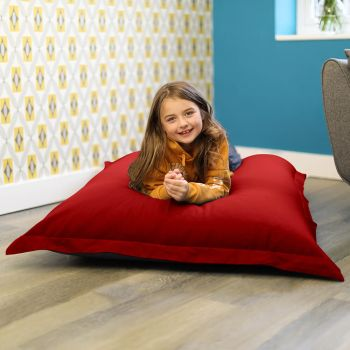 Large Squarbie Bean Bag in Red