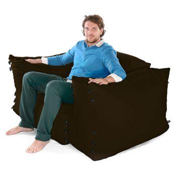 Modular Corner Sofa Brown Bean bags - 3pc 1 Seater Set