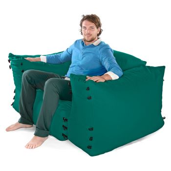 Modular Corner Sofa Jade Bean bags - 3pc 1 Seater Set