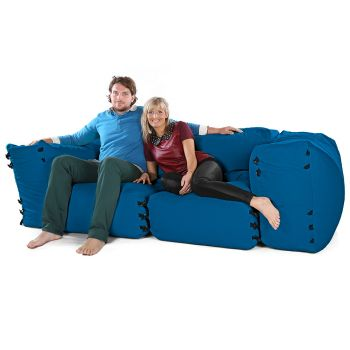 Modular Corner Sofa Bean bags - 4pc 2 Seater Set