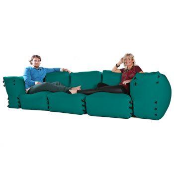 Modular Corner Sofa Jade Bean bags - 5pc 3 Seater Set