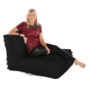 Modular Corner Sofa Black Bean bags - Chair Only