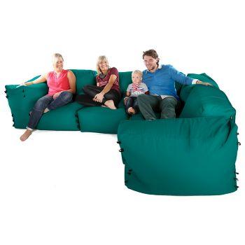 Modular Corner Sofa Jade Bean bags - 7pc Deluxe Corner Set