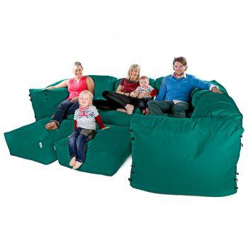Modular Corner Sofa Jade Bean bags - 9pc Luxury Set